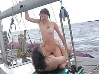 Sveta's pussy burns with lust, so she won't ever refuse to have a boat ride with a horny guy gazing at her tits and ass with frank desire. See her clean shaved slit getting pumped with his massive cock in all imaginable positions before he fills her cute