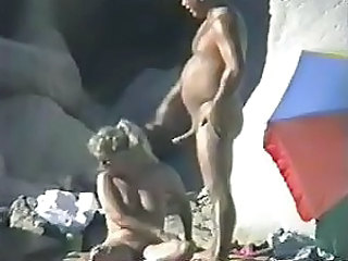 What Nudist Couples are doing at the Beach by snahbrandy