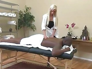 Massage black guy and fuck him