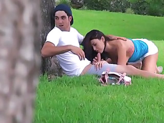 Voyeur teen sex outdoors
