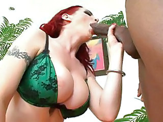 Raven-haired slut Mz Berlin is mouth raped by a huge black cock