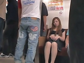 Japanese hot girl abuse in train