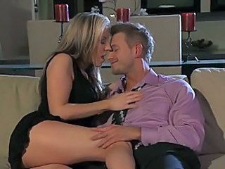 Sensual Blonde MILF Carolyn Reese Gets Fucked and Jizzed On Her Tummy