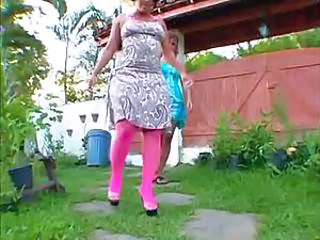 Ass Brazilian Latina Mature Outdoor Pantyhose