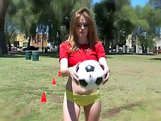 Hardcore Sex With Hot Masturbating Red Head Soccer Player Faye Reagan