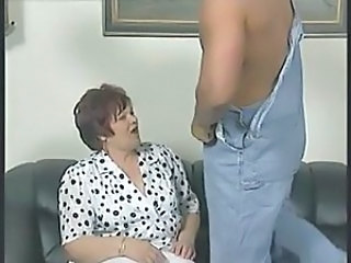 Chubby Granny in White Stockings Fucks