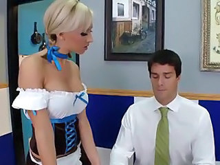 Babe Blonde European Uniform