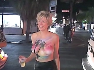 Horny Drunk Babes Flash Their Goods In Public At Fat Tuesday