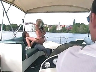 Girl fuck on a boat