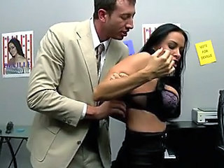 Brunette Office Slut Vanilla Deville Gets Fucked Cowgirl and Doggy Style