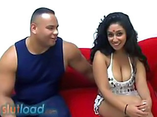 busty indian dancer Natasha Sull fucked by black guy
