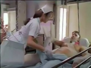 Eager nurse gives handjob