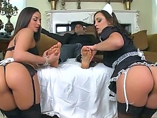 Awesome Anal Threesome With Two Stunning Maids
