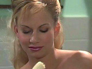 Tall blonde german gets fucked in clothes