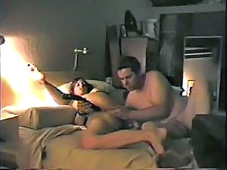 Amateur DP with toy and her man
