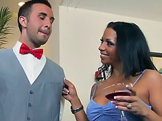 Latin Cougar Mercedes Ashley Jumping Over a Helpless Big Dick