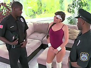 Horny Anal Cougar Alexandra Silk Gets a DP In an Interracial Threesome