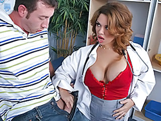 Jordan can't stop thinking about sex and seeing Dr. West's big juggs just makes it worse. He can't stop saying all the dirty shit he'd like to so to her tits. Surprisingly, this situation turns her on a lot. So she asks him to put his pants down and wraps