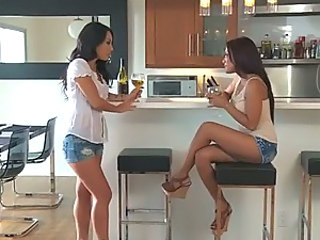 Asian Pornstars Asa Akira and Kaylani Lei Anal Toying Lesbian Session