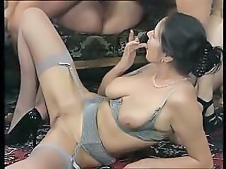 European German Groupsex Lingerie Stockings