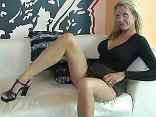 Blonde European Legs MILF Wife