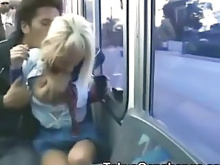 Girl groped and fingered on the bus