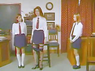 Hard spanking of schoolgirl teen