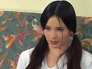 Brunette Cute Pigtail Russian School