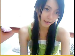 Asian Brunette Cute Korean Long hair Skinny Solo Webcam
