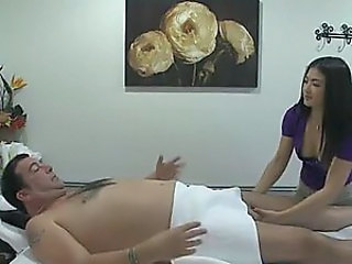 Hot Asian Masseuse Riding The Client's Cock