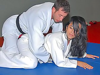 Karate lesson ends with fucking