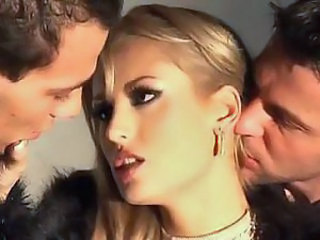 Blonde Cute European Groupsex Threesome