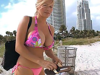 Beach Big Tits Bikini Blonde Bus European MILF Outdoor