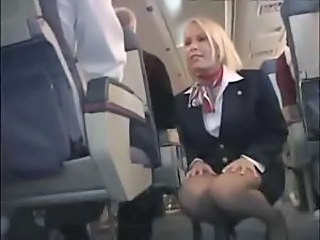 Stewardess fucked on her plane so hard