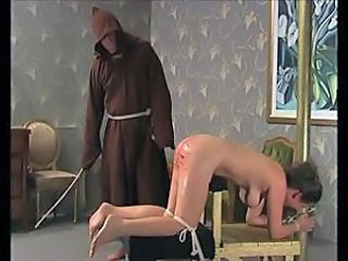 Viciously caned young ass hurts