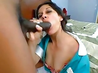 Big cock Blowjob Latina Maid Uniform