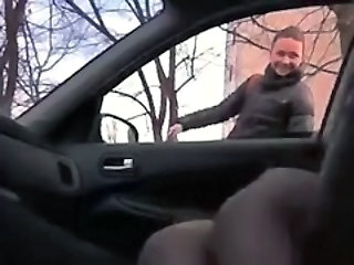 Car Masturbating Outdoor Public Russian