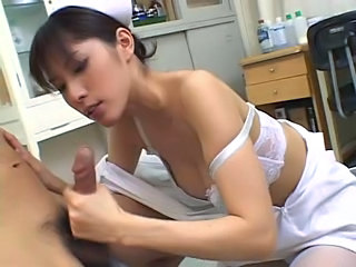 Amazing Asian Handjob Japanese Lingerie Pornstar