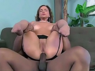 Anal Interracial MILF Pornstar Shaved Stockings