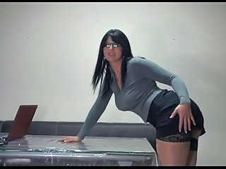 Big Tits Bus European German Glasses Office Secretary
