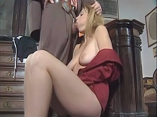 Big Tits Blowjob European French MILF Pornstar