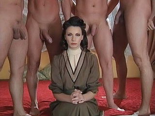 Four men fuck a lady