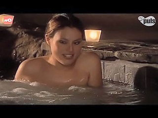 Amazing Brunette Erotic Pool
