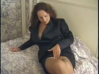 Amateur Brunette Granny Mature Stockings