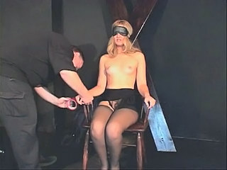 Small tits chick in a BDSM...