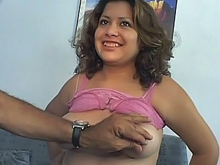 Cute prego showing off her...