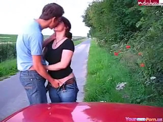 European German Kissing Outdoor Public