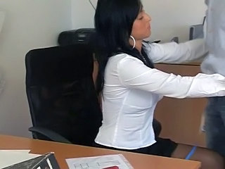 Black Nylon Secretary Sex...