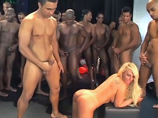 Blonde Doggystyle Gangbang Groupsex Interracial