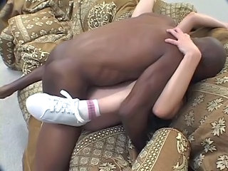 Blonde milf gets pussy punishment from young black...
